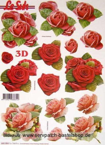 Rosen (680.004) - 3D Stanzbogen