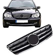 Rejilla delantera para parrilla de coche para Benz W203 Clase C SL C230 C320 C240 cromado