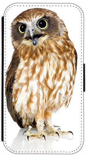 Flip Cover Schutz Hülle Handy Tasche Etui Case für (Apple iPhone 5 / 5s, 615 lustiger Hase) 613 Eule Owl