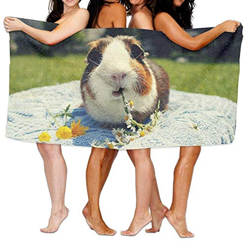 AORSTAR Picknickdecke,Stranddecke Strandtuch,Cute Guinea Pigs Eat Flower Microfiber for Bath Sheets Towels Family Bathroom,Hotel,Swimming Pool,Gym Quick Dry Strong Water Absorption,31.5