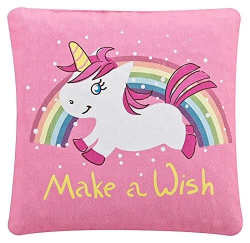 Aminata BALANCE - Kirschkernkissen mit Einhorn-Motiv für Baby Mädchen in rosa Mikrowelle - Kirsch-Kern-Kissen Wärme-Kissen für Kinder bei Bauch-Schmerzen, Blähungen - Tier-Motiv - Pferd Unicorn
