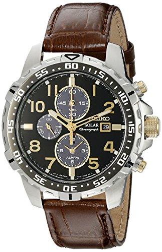 seiko-ssc309-mens-core-solar-black-dial-brown-leather-strap-chronograph-alarm-watch