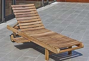 Destiny Chaise longue de jardin Monte Carlo teck chaise longue avec roulettes teck chaise longue Sauna Chaise longue Ergo