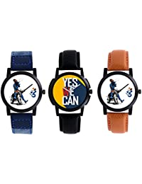 A R Sales Pack Of 3 Analog Watch For Mens And Boys 2-3-4
