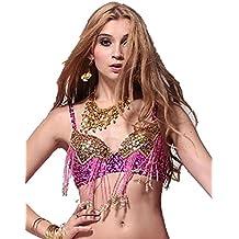 Danza Top reggiseno costumi perline frange reggiseno con paillettes Danza del ventre costume reggiseno