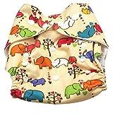 Aivtalk Baby Training Pants Waschbar Stoffwindeln Trainerhose Wiederverwendbare Tuch Windeln Windelhose Unterwäsche Töpfchentraining Größe Verstellbar, 0-2 Jahre(Elefant Gelb)