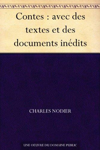 Couverture du livre Contes : avec des textes et des documents inédits