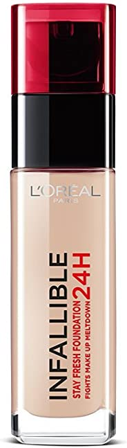 L'Oreal Paris Infallible 24H Liquid Foundation, Natural Rose 125, 30ml