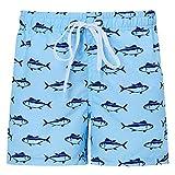 Idgreatim Ragazzi Costume da Bagno Asciugatura Veloce Beach Board Pantaloncini Estate Divertenti Graphic Bambini Costume Mare Hawaii con 8-9 Anni