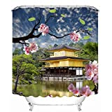 YuLL Mildew Resistant Beautiful Scenery Shower Curtains Waterproof Anti - Mildew Thickened Bathroom Quick-Drying Shower Curtain (A Variety of Sizes) Household,180 * 200cm