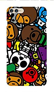 ZAPCASE PRINTED BACK COVER FOR IPHONE 7 PLUS Multicolor