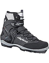 Alpina BC-1550 del interior del país nórdico botas de esquí, , Para uso con NNN-BC encuadernaciones, negro/plata, 38