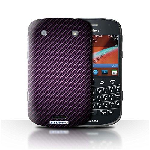 Stuff4® Hülle/Hülle für BlackBerry Bold 9900 / Lila Muster/Kohlenstoff-Faser-Muster Kollektion -