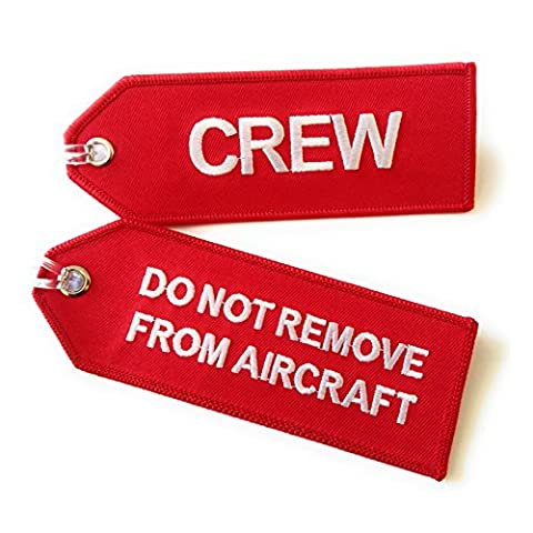 Crew / Do Not Remove From Aircraft / Small Luggage tag / High Quality / aviamart (tm)