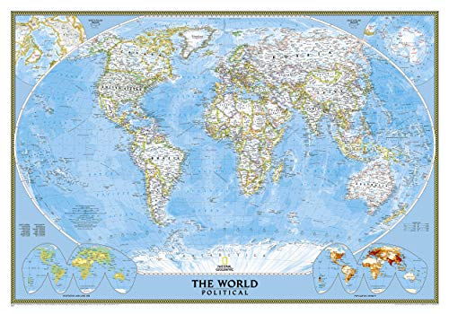 Classic Weltkarte, politisch, laminiert: 1:38931000: Political (National Geographic Reference Map)