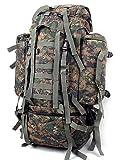 AWSAYS 80L L Tourenrucksäcke/Rucksack Camping & Wandern/Klettern Draußen Feuchtigkeitsundurchlässig/tragbar / Multifunktions Tarnfarben Nylon, Jungle Camouflage