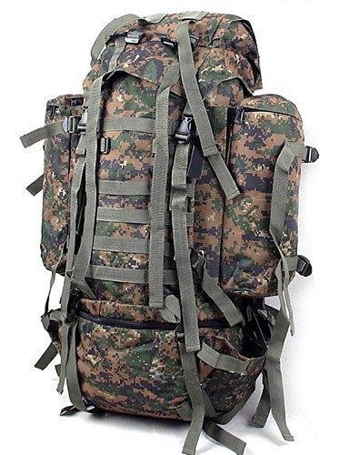 HWB/ 80L L Tourenrucksäcke/Rucksack Camping & Wandern / Klettern Draußen Feuchtigkeitsundurchlässig / tragbar / Multifunktions Tarnfarben Nylon jungle camouflage