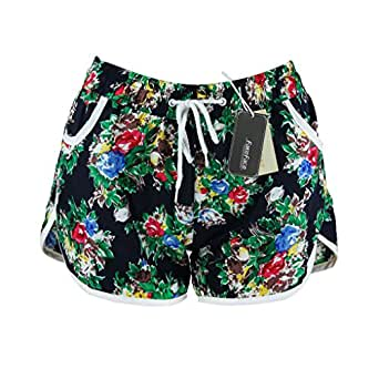 [Official Shop] BXT Girls Ladies Floral Print Board Swim Beach Shorts