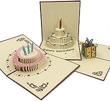 Pack de 8 Postales Espectaculares Bonitas y Originales con Diseños 3D en el Interior. Perfectas para Regalo, Cumpleaños, Bodas, Día del Padre, Día de la Madre, San Valentin o Cualquier otra Fecha Importante.
