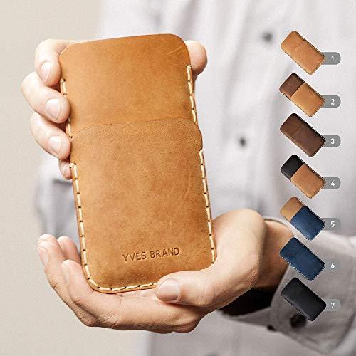 5g Cover (Leder Hülle für OnePlus 7 Pro 5G 6T 6 5T 5 3T 3 2 One X Plus Tasche Etui Cover Case personalisiert durch Prägung mit ihrem Namen, Wunschtext, Wort)