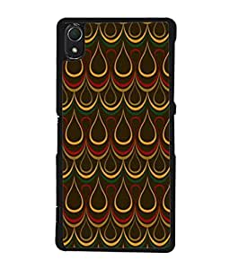 PrintVisa Designer Back Case Cover for Sony Xperia Z2 (5.2 Inches) (Classy yellow red green brown rare)