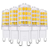 Albrillo 5er Pack 3.5W G9 LED Lampe 400 Lumen, Kein Flackern und 3000k warmweiß G9 LED Leuchtmittel Ersatz 40W G9 Halogenlampe, 360° Abstrahlwinkel
