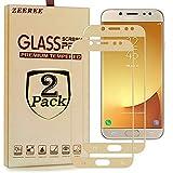 ZEEREE [2 Unidades] para Galaxy J7 Pro 2017 Protector de Pantalla, Dureza de Grado 9H Cristal Vidrio Templado Premium Protectores de Pantalla para Samsung Galaxy J7 Pro 2017/J730F (5,5 Pulgada)