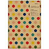 Midori Oneside Transparent Gift Bag M Size 12 sheets - Multi Dot