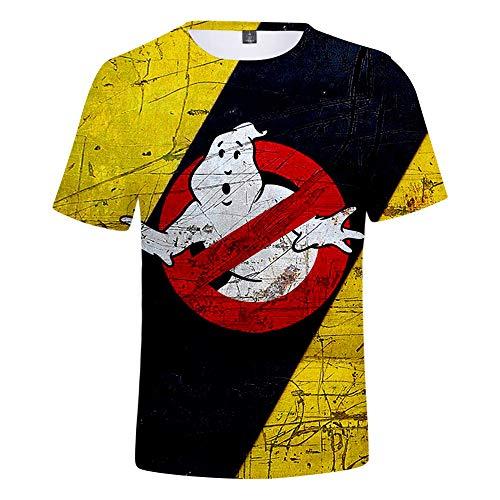 Hojoo 3D T-Shirt Fan Kurzarm Unterhemd Sommer Personalisierte Freizeit Streetwear Unisex Shirt Anime 3D HD Gedruckt Ghostbusters