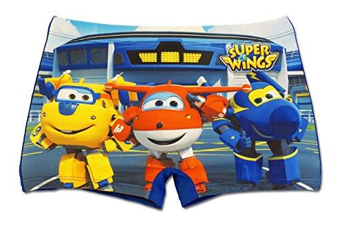 Super wings - costume costumino boxer parigamba mare piscina - bambino - novità prodotto originale 1572eq [blu - 4 anni - 104 cm]