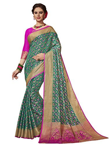 EthnicJunction Double Ikat Woven Patola Silk Saree With Unstitched Woven Patola Blouse...