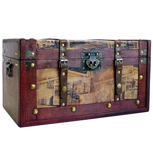 De lujo gran caja almacenamiento madera madera Tronco