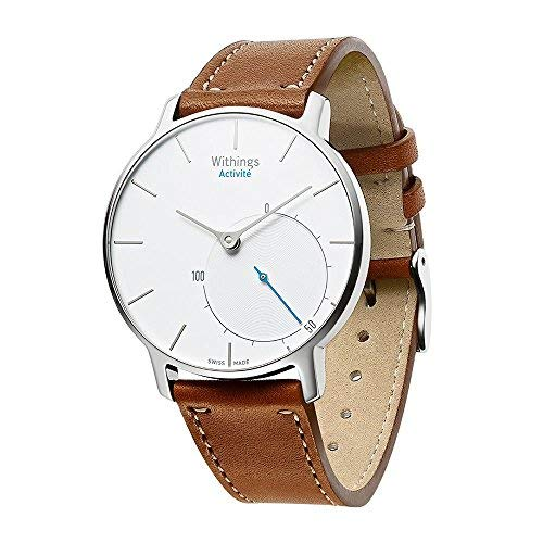 Aresh compatible Withings Activité Nokia Withings Steel HR 36mm Band,18mm Width Quick Release Leather Nokia Strap Accessory compatible Withings Smart Watch(Brown)