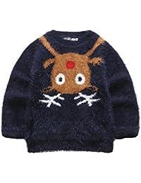ELSA & ANNA® Calidad Niñas Puente de Navidad Suéter de Navidad Xmas Saltador Christmas Jumper ES-BLUJUM12