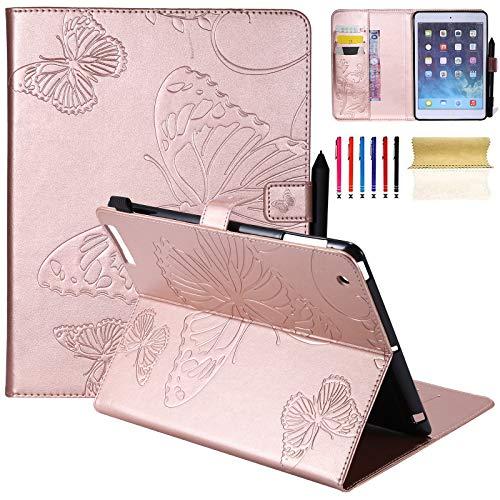 ll 24,6cm, leicht ultra slim Smart Case Flip Folio Ständer Case Schutzhülle flexible Soft PU Leder Rückseite Schutzhülle mit Auto Sleep/Wake Für iPad 2./3./4. Generation F-rosegold ()