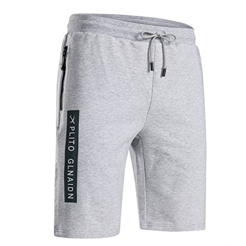 Ozon Bib (CHLCH Herren Sport Shorts Jogginghose KordelzugSommer Herren Sport Light Grey XL)