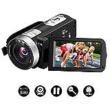 Camcorder Videokamera Full HD 1080p Digitalkamera 16x Digital Zoom Kamera 3,0 Zoll 270 Grad drehbarer LCD-Bildschirm mit Fernbedienung