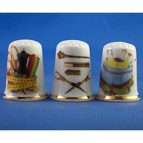 Sammlerst/ück antik silber Moth birchcroft Porzellan China Fingerhut