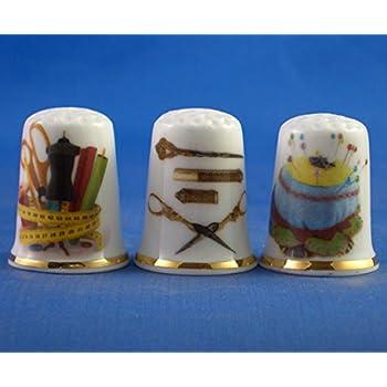 /-Viola con Cristalli Swarovski Porcellana Cinese Collezione ditale/