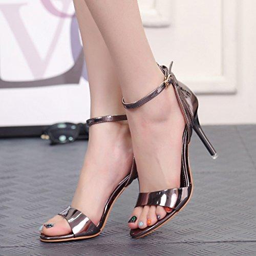 gut - sandalen, frauen, sommer, champagner, lace, lace, hochhackige schuhe, mode, schuhe, die schuhe, damenschuhe waffe farbe