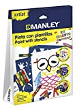 Manley- Artist Pinta con Plantillas, Color Surtido (MNC00010)