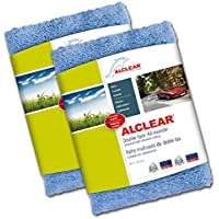 ALCLEAR 820203U Double Face Cloth to Clean the Painting of the car, 40 x 40 cm, Blue 2 Units - ukpricecomparsion.eu
