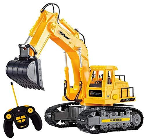 New Top Race® 7-Kanal voll funktionsfähiger Bagger, elektrischer Bautraktor mit RC Fernbedienung (TR-111)*
