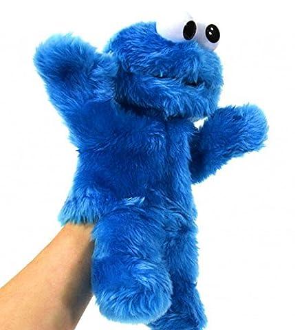 Sésame rue ramasse-miettes Marionnette Poupée Monster Sesame Street Cookie Monster peluche figurine: env. 32cm enfants