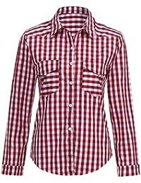 e8e098628 Amazon.es: Camisa Mujer Blanca - Rojo / Camisetas de manga larga ...