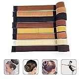 JZK Set von 8 stücke Haar Dutt Styling Tool, Donut Hair Bun Maker Hair Brötchen Hair DIY Zubehör zum Frau Mädchen Dame, 8 Farben