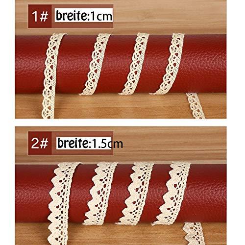 Vintage Spitzenbänder | beige, 5 Stück - 2