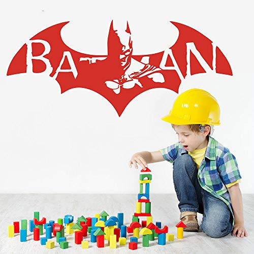 Geiqianjiumai Dibujos Animados Bat Kindergarten Vinilo Decorativo Habitación Infantil Bat Hero Rojo...