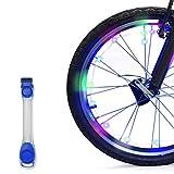 InnoBeta® LED Fahrrad-Lichtstreifen, Outdoor Wasserdicht Flexibel Helle Lichter Für Radfelgen oder Fahrradrahmen, Blinkender / Leuchtender Modus, Perfekt für Erwachsene und Kinder für Sicherheit und Spaß am Sport (Kostenloses, blaues Armband als Geschenk), 3*AA-Batterien im Lieferumfang enthalten(RG