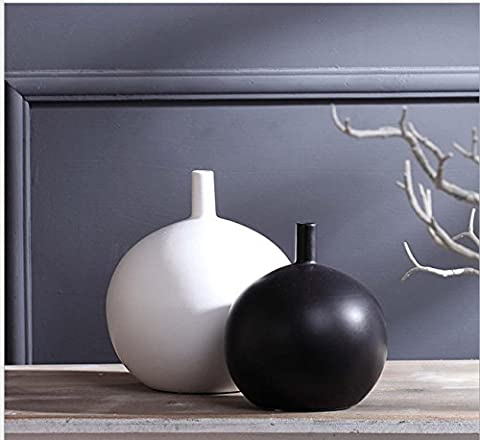 Modern Simple Chinese Traditional Ceramic Vase Creative Decoration Home Crafts Gifts Ornament For Livingroom BedBoom Cafe Bar , 2 sets